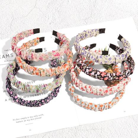 Großhandel neues Faltenblumenstoff dünnes Stirnband Nihaojewelry NHAQ392111's discount tags