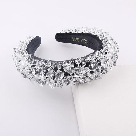 wholesale fashion transparent crystal wide sponge headband Nihaojewelry  NHWJ392119's discount tags