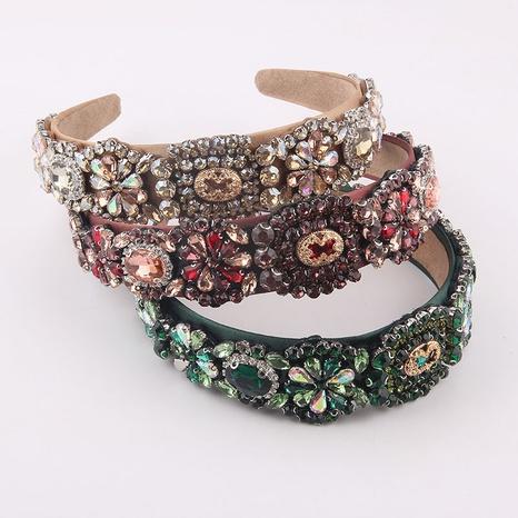 wholesale Baroque geometric diamond flower headband Nihaojewelry  NHWJ392122's discount tags