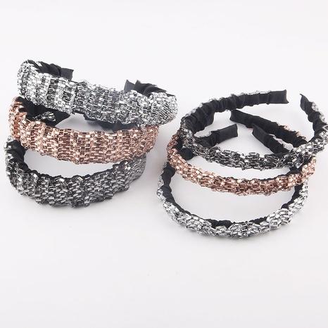 wholesale simple geometric shiny diamond thin headband Nihaojewelry  NHWJ392124's discount tags