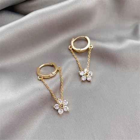 wholesale jewelry flowers tassel ear clip Nihaojewelry NHPF392146's discount tags