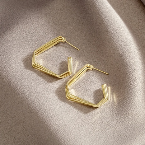 wholesale jewelry fashion geometric glossy earrings Nihaojewelry NHPF392147's discount tags