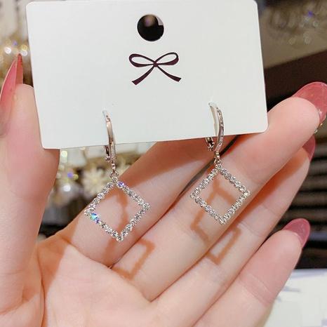 wholesale jewelry zircon hollow box ear buckle Nihaojewelry NHPF392149's discount tags