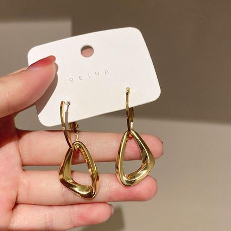wholesale jewelry geometric triangle ear hoop Nihaojewelry NHPF392151's discount tags