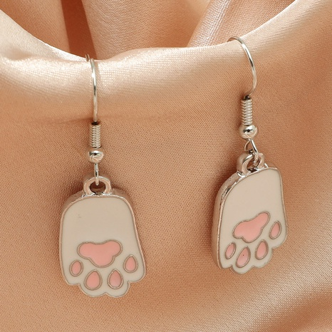 wholesale fashion metal dripping white cat claw earrings Nihaojewelry  NHDP392167's discount tags