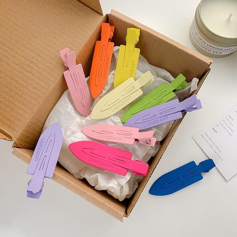 Korean candy color metal hairpin wholesale summer word clip bangs clip duckbill clip headdress NHQIY392177's discount tags