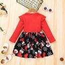 longsleeved pit stripe childrens Christmas dress wholesale Nihaojewelry NHLF392217