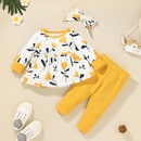 wholesale childrens plant printing pullover twopiece Nihaojewelry NHLF392305