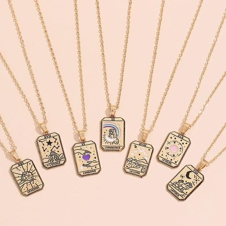 Vente en gros collier en alliage simple constellation Nihaojewelry NHAJ392971's discount tags