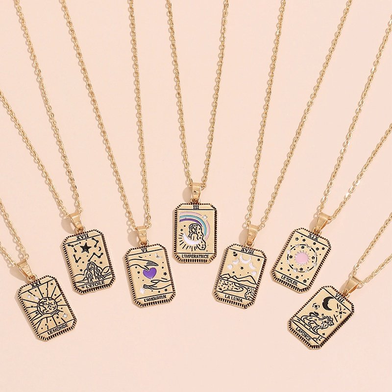 wholesale simple constellation pendent alloy necklace Nihaojewelry  NHAJ392971