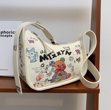 Sac d'aisselle d'épaule d'épaule large de graffiti de bande dessinée en gros Nihaojewelry NHTG392608's discount tags