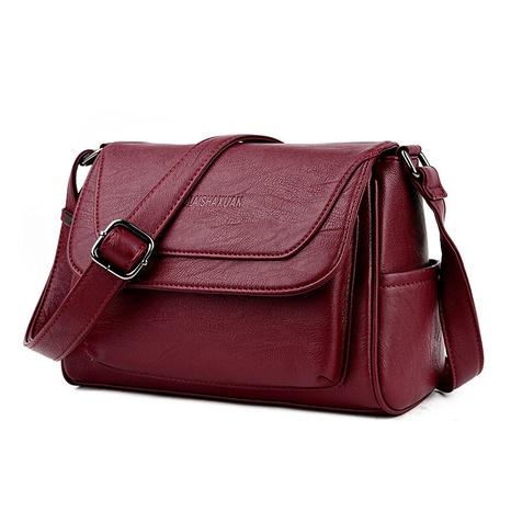 vente en gros nouveau sac à bandoulière diagonal en cuir souple rétro Nihaojewelry NHAV392647's discount tags