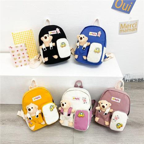 wholesale cartoon clashing color bear doll backpack Nihaojewelry NHAV392663's discount tags