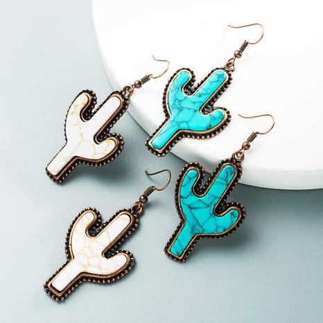 wholesale fashion cactus-shaped earrings Nihaojewelry  NHLN392945's discount tags