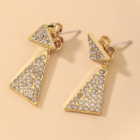 wholesale full rhinestone triangle geometric earrings Nihaojewelry NHNJ393028's discount tags