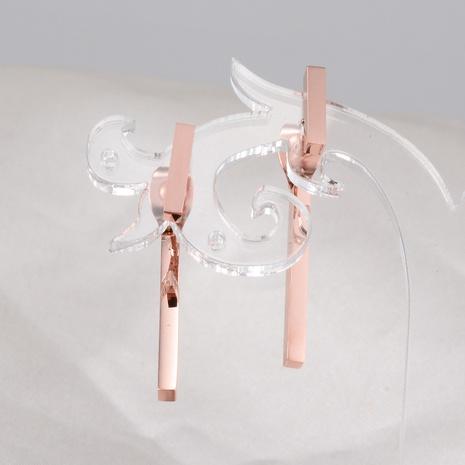 wholesale Korean double stick 18K rose gold geometric earrings Nihaojewelry  NHAB393111's discount tags