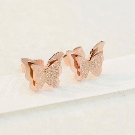 frosted butterfly Korean Style earrings wholesale jewelry Nihaojewelry NHAB393127's discount tags