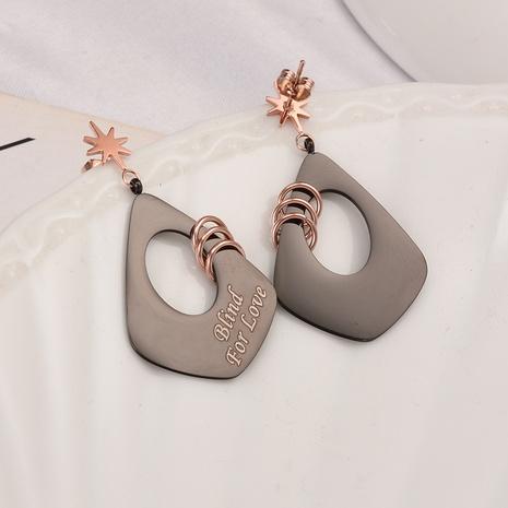 star geometric Korean Style long earrings wholesale jewelry Nihaojewelry NHAB393129's discount tags