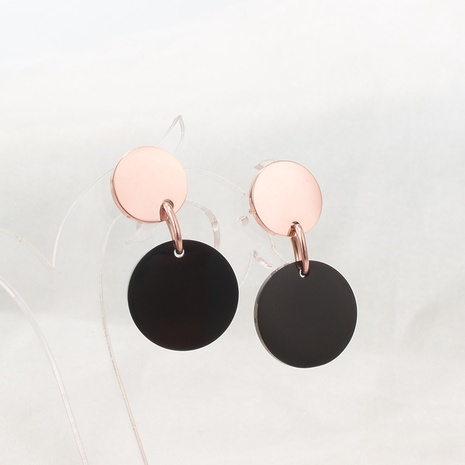 disc hit color Korean Style earrings wholesale jewelry Nihaojewelry NHAB393130's discount tags