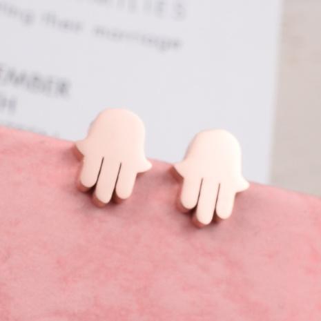 titanium steel palm Korean Style earrings wholesale jewelry Nihaojewelry      NHAB393133's discount tags