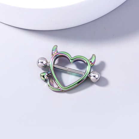 wholesale jewelry monster devil heart stainless steel breast ring nihaojewelry  NHDB393202's discount tags