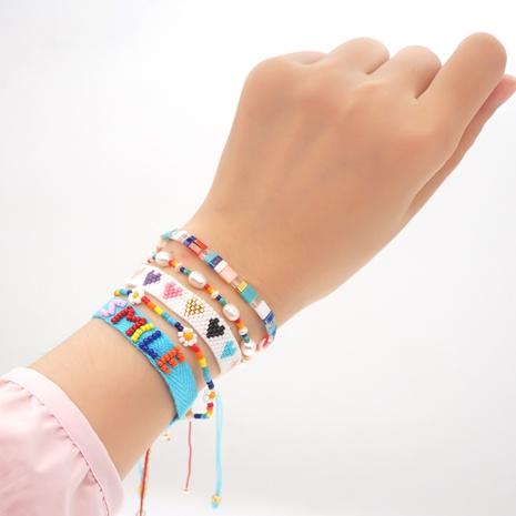 wholesale simple multi-layer rainbow daisy Miyuki beads woven bracelet Nihaojewelry  NHGW393447's discount tags