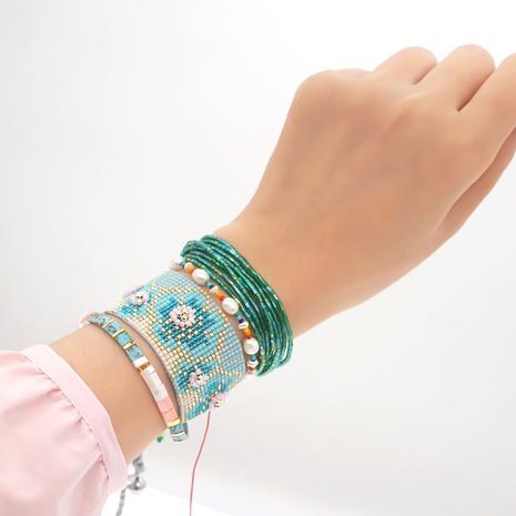 Weaving Daisy Pearl Miyuki Bead Multilayer Bracelet Set wholesale jewelry Nihaojewelry NHGW393448's discount tags