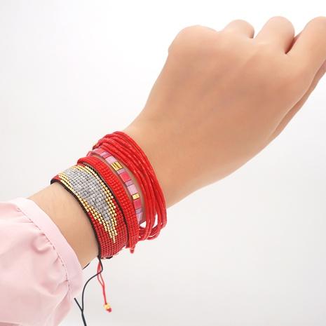 Miyuki beads woven evil eye ethnic style multi-layer bracelet set wholesale jewelry Nihaojewelry NHGW393451's discount tags