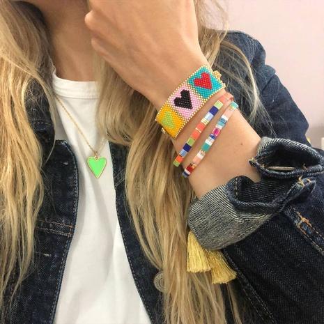 Miyuki Beads Hand-woven Heart Bracelet Set wholesale jewelry Nihaojewelry NHGW393456's discount tags