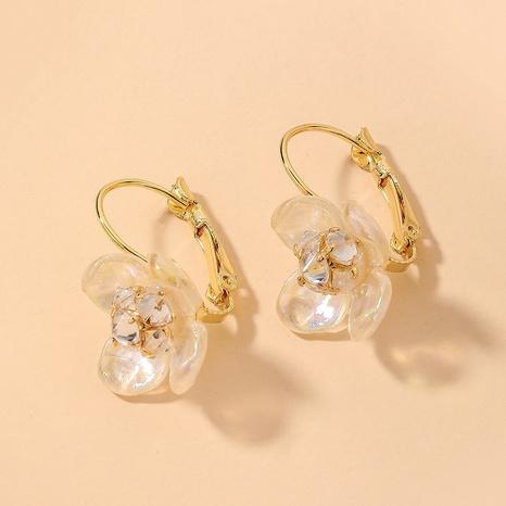 wholesale fashion rhinestone pearl flower earrings Nihaojewelry NHNJ393610's discount tags