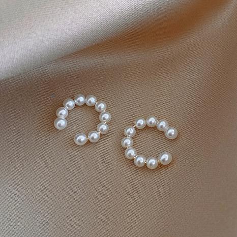 wholesale simple C-shaped pearl ear bone clip Nihaojewelry  NHOT400776's discount tags