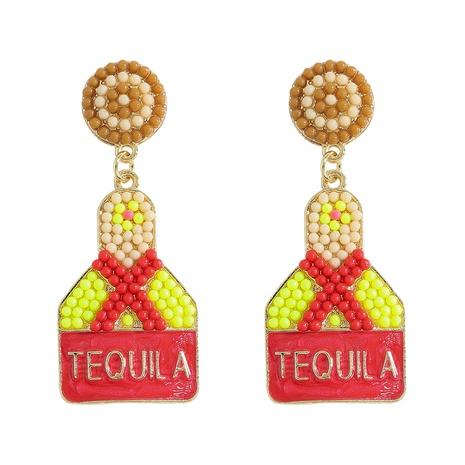 wine bottle rice bead earrings wholesale jewelry Nihaojewelry NHJQ393745's discount tags