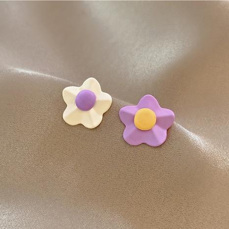 wholesale contrast color flower earrings Nihaojewelry NHOT400786's discount tags