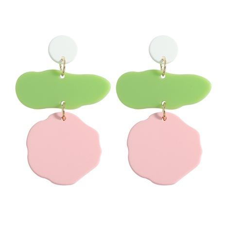 color resin splicing irregular geometric earrings wholesale jewelry Nihaojewelry NHJQ393761's discount tags