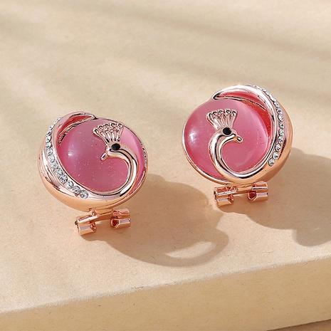 wholesale creative retro opal peacock alloy stud earrings Nihaojewelry  NHPS400818's discount tags