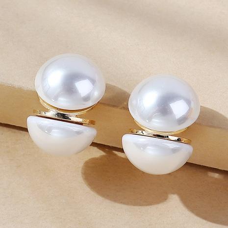 wholesale retro geometric alloy pearl stud earrings Nihaojewelry  NHPS400817's discount tags