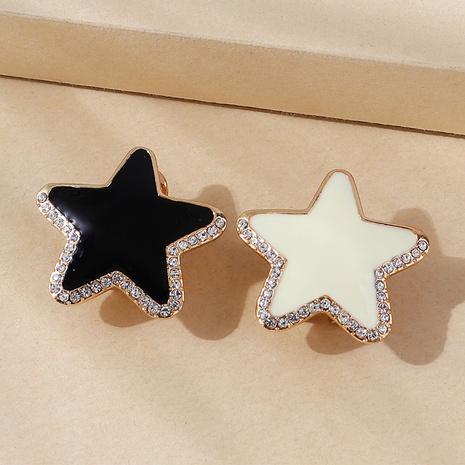 wholesale Korean creative oil painting small star diamond stud earrings Nihaojewelry  NHPS400815's discount tags