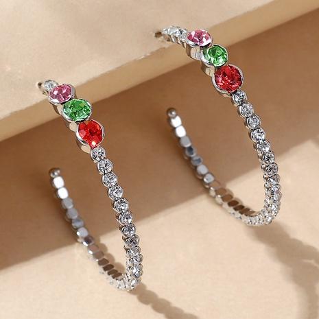 wholesale Korean creative crystal hoop earrings Nihaojewelry  NHPS400789's discount tags