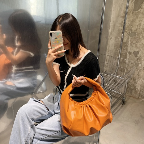 wholesale soft solid color handbag Nihaojewelry NHJZ377792's discount tags