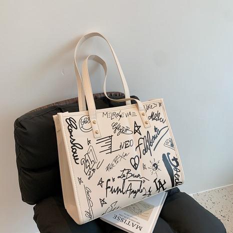 Großhandel Graffiti-Einkaufstasche mit großem Fassungsvermögen Nihaojewelry NHJZ377812's discount tags