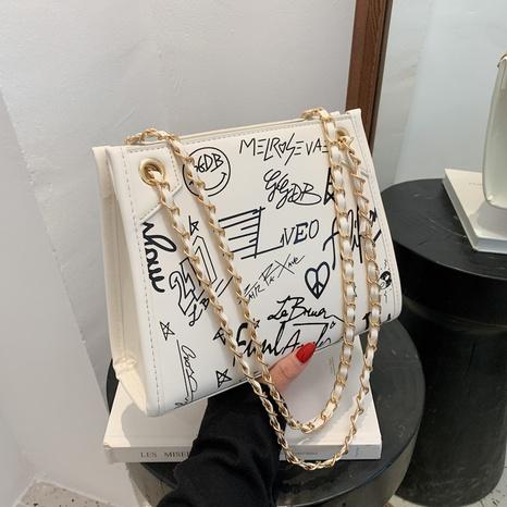 Großhandel Graffiti-Ketten-Einkaufstasche mit großer Kapazität Nihaojewelry NHJZ377823's discount tags