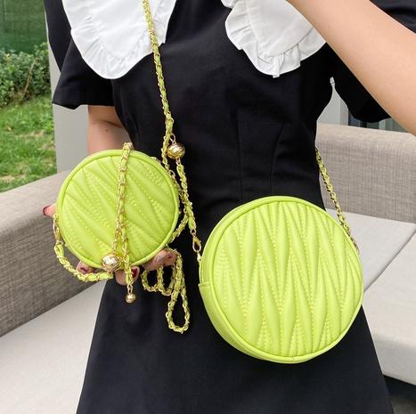 Großhandel Stickgarn Rhombus Kleine Runde Tasche Nihaojewelry NHTG377922's discount tags