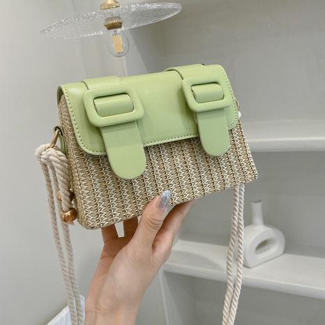 wholesale straw diagonal Cambridge bag Nihaojewelry NHTG377937's discount tags