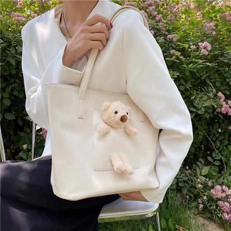 Nihaojewelry Großhandel neue trendige eingelegte Bären einfarbige Handtasche NHAV377968's discount tags