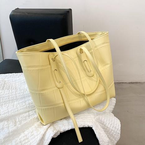 Nihaojewelry Großhandel einfache große einfarbige Einkaufstasche mit Steinmuster NHAV378004's discount tags