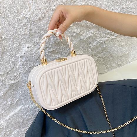 vente en gros sac carré de messager de chaîne de bouton en métal lingge de couleur unie Nihaojewelry NHAV378012's discount tags