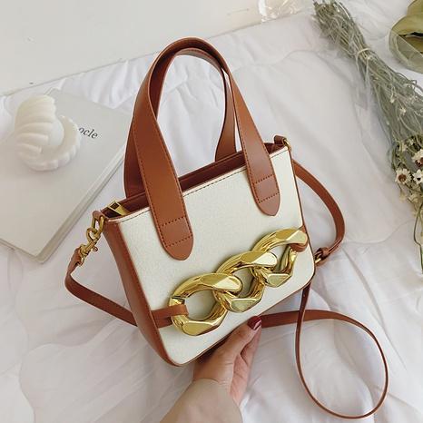 Wholesale Clashing Color Geometric Basket Messenger Bag Nihaojewelry NHAV378014's discount tags