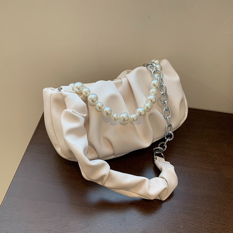 vente en gros sac à bandoulière plié couleur bonbon à chaîne de perles Nihaojewelry NHAV378023's discount tags