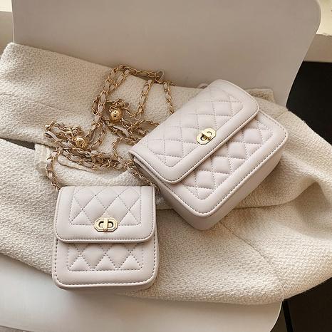vente en gros sac de messager en chaîne en métal lingge de couleur unie Nihaojewelry NHAV378036's discount tags