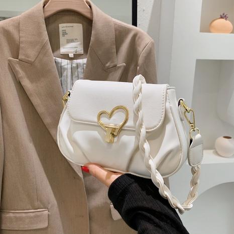 vente en gros sac messager de couleur unie bouton coeur Nihaojewelry NHAV378044's discount tags